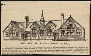 Camp School drawing, 1898, St Albans Museum copyright